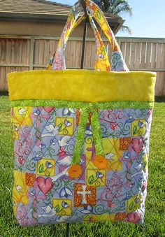 Quilted Faith Tote by carriedawaywithjill on Etsy, $25.00