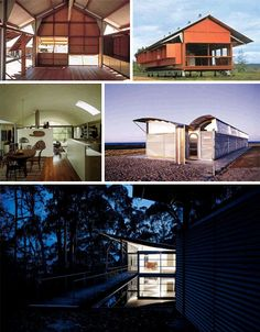 Australian architect Glenn Murcutt is known for his modest yet striking homes, taking cues from local vernacular and blending them with modernism. Innovative Architecture, Residential Architecture, Architecture Design, Quonset Homes, Quonset Hut, Glass Building, Building Facade, Glen Murcutt, Critical Regionalism