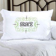 Felicity Glamour Girl Pillow Case - Grey/Black