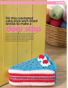 Lynne's Knits: Crochet Cake Doorstop Let's Get Crafting issue 40