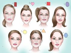 Face Shapes and Hairstyles - New Face Shapes and Hairstyles , How to Figure Out Your Face Shape In 4 Steps Diamond Face Shapes Long Face Shapes, Long Faces, Head Shapes, Oval Faces, Square Faces, Square Face Shapes, Contour Makeup, Contouring And Highlighting, Cool Haircuts