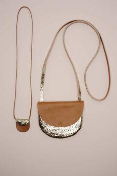 sac Tabara dore 100% cuir - paillette - - Des Petits Hauts