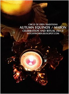 Witchy Words: Autumn Equinox / Mabon 2013 ritual and celebration blog entry with tons of pictures! #pagan #wicca #sabbat