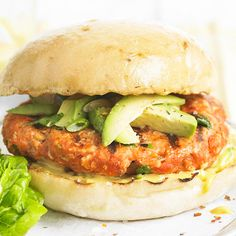 Fire up the grill for these flavor-packed Salmon Burgers! Recipe: http://www.bhg.com/recipe/seafood/easy-salmon-burgers/?socsrc=bhgpin070912