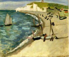 'Aht Amont Klippen bei Etretat', öl auf leinwand von Henri Matisse (1869-1954, France)