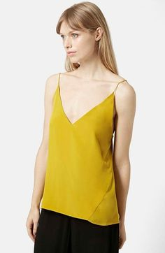 Topshop+Silk+V-Neck+Camisole+available+at+#Nordstrom