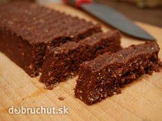 Fotorecept: Čokoládovo-datľové raw tyčinky - Bez pridaného cukru, s množstvom energie v každom kúsku :) Originál dezert na oslavu, ale aj...