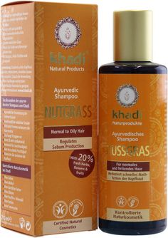 KHADI - Nutgrass Shampoo - Balancing Treatment for Normal to Oily Hair - Cleanses and tones the scalp - Restores hair´s natural shine -- Check out the image by visiting the link. #hairupdoideas