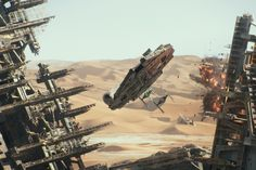 Star Wars VII - The Force Awakens / Millennium Falcon VS TIE Fighters