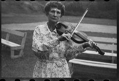 Aunt Samantha Baumgarner, fiddler, banjoist, guitarist, Asheville, 1937. Ben Shahn, photographer. (Library of Congress Prints and Photograph...