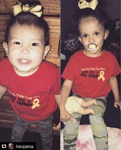 """3/10/17 - Look at these cuties sporting their """"Until My Daddy Comes Home, Every Day is RED Friday"""" tees! ❤️🇺🇸 Get one for your little one at www.battle-threads.com"""