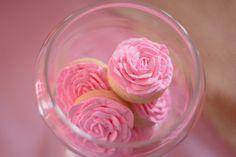 Pink rose cookies at a Sleeping Beauty Party #sleepingbeauty #partycookies