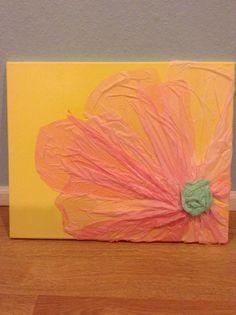 Tissue paper flower wall art/craft