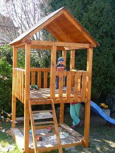 Best tree house diy with slide 21 ideas