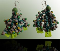 Yellow-green: Wear these handcrafted earrings by BRizzy with a feminine glamour accented the elegance. Feminine, Glamour, Elegant, Yellow, Earrings, Green, How To Wear, Lady Like, Classy