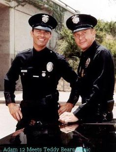 Adam-12 hit the air in September of 1968 and ran till August of 1975 on the NBC network. The show was produced by Dragnet's Jack Webb's Mark VII Limited, which was also responsible for the firefighter show Emergency. In fact, the show's lead Officers, Reed and Malloy, originally appeared on Dragnet, so it was sort of a spin-off. Episodes were based on true life cases and names were, of course, changed to protect the innocent.