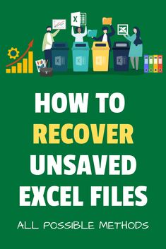 Lost an important file you were working on? Here are all the possible ways you can use to recover unsaved Excel files. It also covers the precautions you must keep in mind when working with Excel. Computer Basics, Computer Help, Computer Programming, Computer Tips, Computer Lessons, Computer Science, Excel Tips, Excel Hacks, Excel Budget