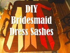 Love Life From Scratch DIY bridesmaid dress sashes dress belts fall wedding red orange yellow do it yourself DIY wedding<br> Diy Wedding Dress, Red Wedding, Wedding Bells, Perfect Wedding, Fall Wedding, Wedding Events, Wedding Stuff, Wedding Ideas, Weddings