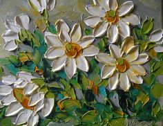Summer Daisies Painting by Jan Ironside