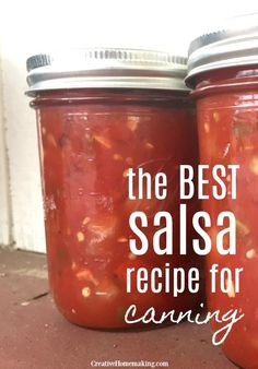 Best Salsa Recipe for Canning The best salsa recipe for canning! How to make salsa from scratch you wont find a better salsa recipe anywhere. The post Best Salsa Recipe for Canning appeared first on Rezepte. The Best Salsa Recipe For Canning, Canning Homemade Salsa, Salsa Canning Recipes, Fresh Salsa Recipe, Tomato Salsa Recipe, Canning Salsa, Fresh Tomato Recipes, Salsa Recipe With Vinegar, Sugar Free Salsa Recipe