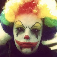 Scary clown makeup I did.