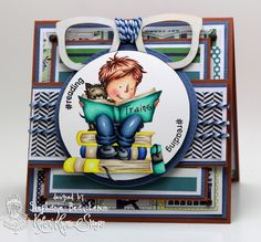 A World of Creative Possibilities: Kraftin' Kimmie Stamps : New release Day 4, Happiness is reading