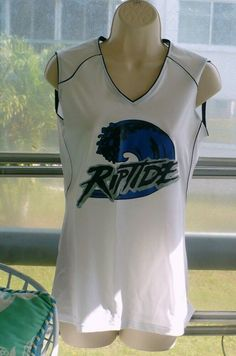 b0c07808841 Badger Sports Womens Tank Top Riptide Sleeveless Athletic Fitted Size  Medium #Badger #TankTop