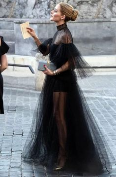 Olivia Palermo at Valentino Fall 2015 Haute Couture show in Rome - aka dream dress!Best Dressed: The fashionista Olivia Palermo glamorous and chic in fab black Valentino gown at Valentino Mirabilia Romae Couture fashion show.Olivia Palermo in Valentino Be