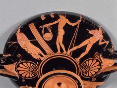 Penthesilea Painter (fl. c. 470 - 450 BCE), Museum of Fine Arts, Boston 28.48 (460-450 BCE). Red-figure kylix. Side B.