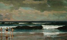 On the Beach: 1869 by Winslow Homer (The Arkell Museum, Canajoharie, NY)