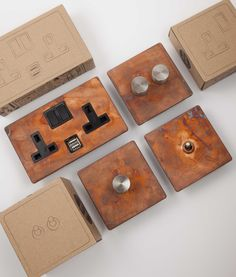 Light switches, dimmers and plug sockets; an extensive, high quality light switch and socket range available in 6 exclusive finishes. Light Switches And Sockets, Vintage Light Switches, Black And Copper Kitchen, Designer Light Switches, Door Casing, Making Space, Copper Lighting, Toggle Light Switch, Room Lights
