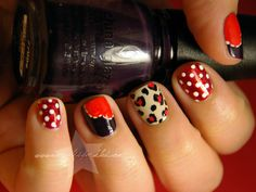 Valentine's  Day nail art ideas check out www.MyNailPolishObsession.com for more nail art ideas.