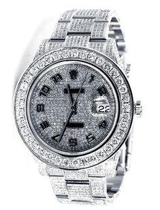 Rolex Datejust II Pave Diamond Dial / Loaded with Diamonds - 18ct | Limited Watches Sale! Up to 75% OFF! Shop at Stylizio for women's and men's designer handbags, luxury sunglasses, watches, jewelry, purses, wallets, clothes, underwear & more!