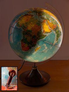 DIY globe light day night