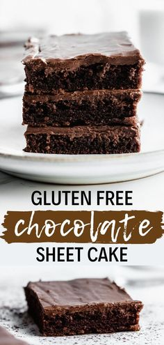 This gluten free chocolate cake recipe is yummy, moist and perfect for holidays like Christmas, or a birthday. It's made in a sheet pan - also called Texas sheet cake - and feeds a crowd! Gluten free dessert recipes are simple to make. This easy gluten free cake comes together in no time and has the most delicious chocolate icing. Gluten free chocolate desserts are the perfect thing to indulge in. Pin this to your best gluten free cake board! #simplyjillicious #chocolate #glutenfree Gluten Free Chocolate Cake, Delicious Chocolate, Chocolate Icing, Chocolate Desserts, Healthy Chocolate, Almond Joy, Cake Recipes, Dessert Recipes, Party Desserts