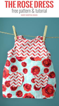 DIY lined baby dress tutorial