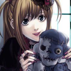 Death Note デスノート, Death Note Fanart, Anime Manga, Anime Art, Amane Misa, Icons Girls, 8bit Art, L Lawliet, Gothic Anime