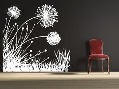 Hey, I found this really awesome Etsy listing at https://www.etsy.com/listing/128853905/dandelion-field-2-uber-decals-wall-decal