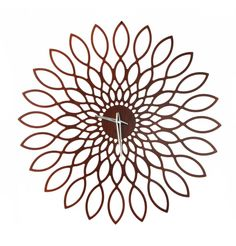 Big floweresque wall clock