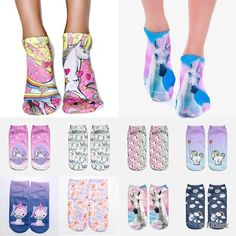 These unicorn socks are not only adorable, but they are guaranteed to brighten up your day faster than you can say 'I LOVE UNICORNS'. Made from super soft cotton and printed individually, they are a lovely addition to any magical wardrobe. They are sure to turn heads and cause bright smiles from everyone who lays eyes on them. Get them now and start wearing socks that can give your day that extra rainbow power it needs. They are a great gift for anyone who loves rainbows and unicorns…