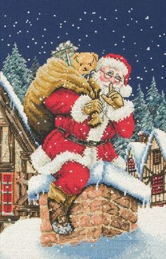christmas needlepoint kits | Have you ever had a picture that you wanted to recreate in embroidery ...