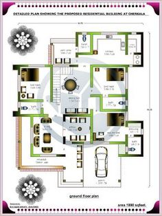 Bungalow Floor Plans, Modern House Floor Plans, Home Design Floor Plans, Duplex House Plans, Duplex House Design, Contemporary House Plans, Bedroom House Plans, Free House Plans, House Layout Plans