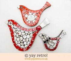Wonderful mosaic birds on sale at yay retro! now