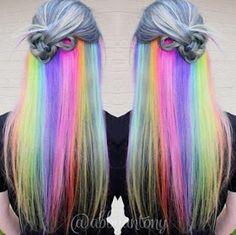 Κρυφά rainbow hair!