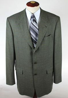 HAROLD POWELL Blazer Suit Jacket Mens size 42 R 3 Btn Ventless ...