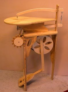 Rick Hutcheson's homemade treadle scroll saw.