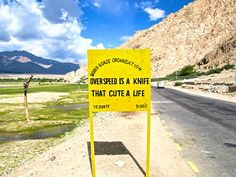 India road signs: Overspeed is a knife