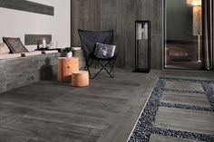 Axi, Atlas Concorde wood look porcelain tiles Grey Timber Lastra 20 mm