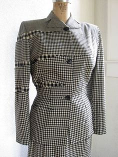 vintage 1940s suit / gilbert adrian by SHESABETTIEboutique on Etsy, $3500.00