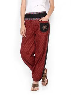 Buy Peppertree Women Red Printed Harem Pants - 424 - Apparel for Women - 329500